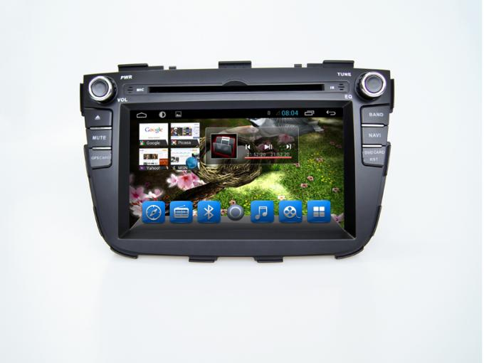 Android 4.4 2din GPS KIA Sorento DVD Player Bluetooth with Navigation