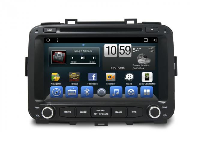Double Din Kia Carens 2014 Car Dvd Player Gps Navigation Android 6.0 / 7.1 System