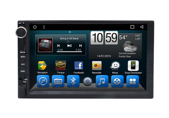 চীন Automotivo Universal Double Din Car Dvd Player , Central GPS DVD 7 Inch Touch Screen সরবরাহকারী