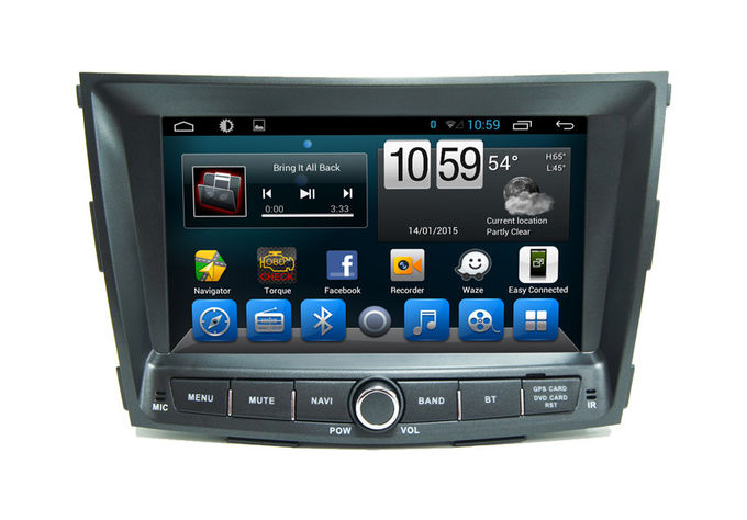 Quad Core Entertainment System Citroen DVD Player for Ssangyong Tivolan